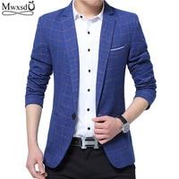 Mwxsd brand Mens Fashion Blazer casual Slim Fit suit jacket Male blazers Mens coat Wedding dress Terno Masculino Plus Size 5XL