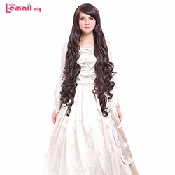 100CM-Long-Wavy-White-Blonde-Pink-Red-Blue-Black-Brown-Wavy-Cosplay-Wigs-Synthetic-Hairs