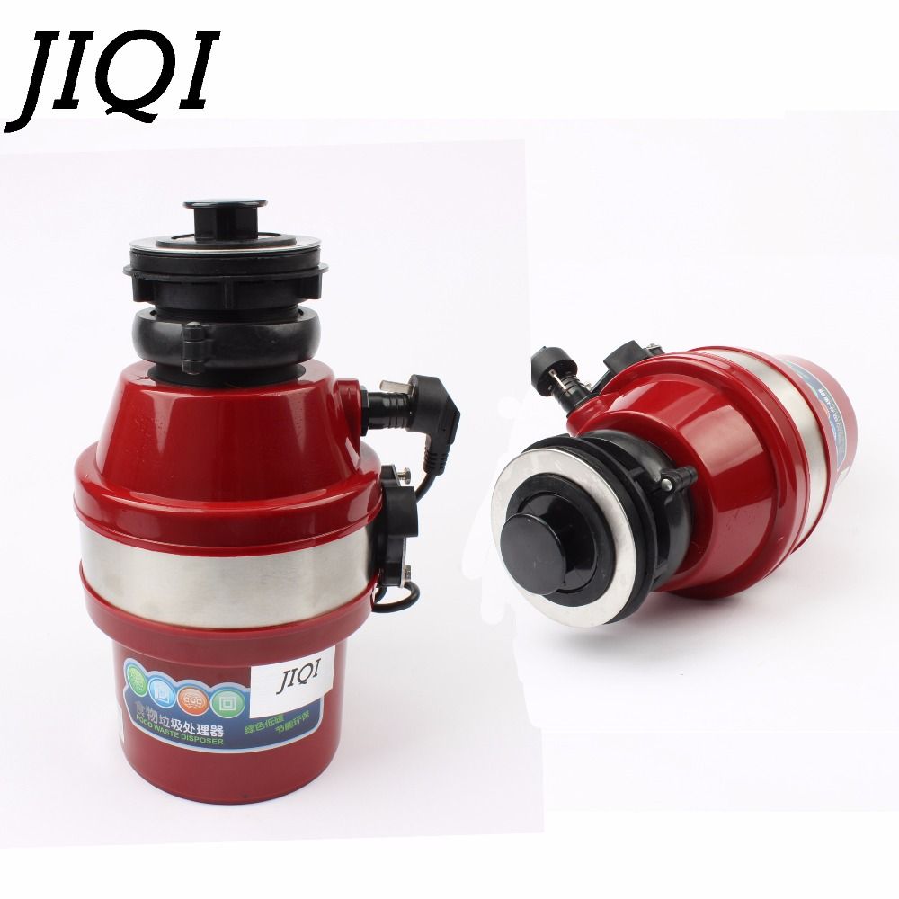 JIQI Food Waste Disposers garbage processor crusher stainless steel bones Disposal grinder kitchen appliances with sink adapter цена