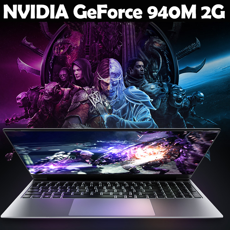 Image 2 - Gaming laptop 15.6inch Metal Body Intel i7 6500U 16GB RAM 2G Dedicated Video Card Windows 10 Notebook for Game Office Work-in Laptops from Computer & Office
