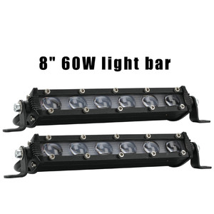 Image 3 - LED Lamps For Cars 8 Inch 60W LED Work Light Bar Waterproof Off Road Spotlight Floodlight Fog Lamp Luces Led Para Auto