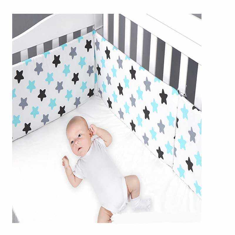 Imprimer bébé lit pare-chocs Double face détachable nouveau-né berceau autour de lit protecteur enfants chambre décor