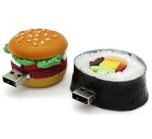 Hamburger sushi watermelon food USB flash drive