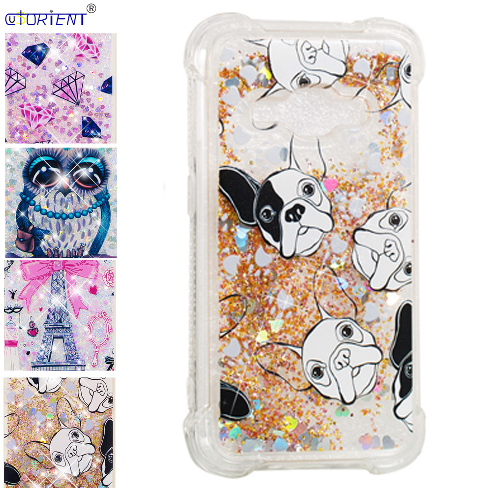 For Samsung Galaxy J1 2016 J16 Bling Glitter Dynamic Liquid Quicksand Bumper Case Sm-j120f/ds Sm-j120fn Sm-j120h/ds Phone Cover Pure Whiteness Half-wrapped Case Cellphones & Telecommunications