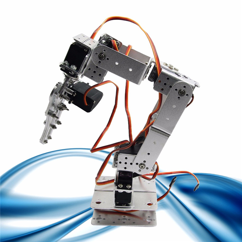 Aluminium Alloy Robotic Arms Kit With Servos For Arduino-Silver
