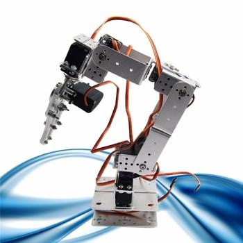 Aluminium Alloy Robotic Arms Kit With Servos For Arduino-Silver