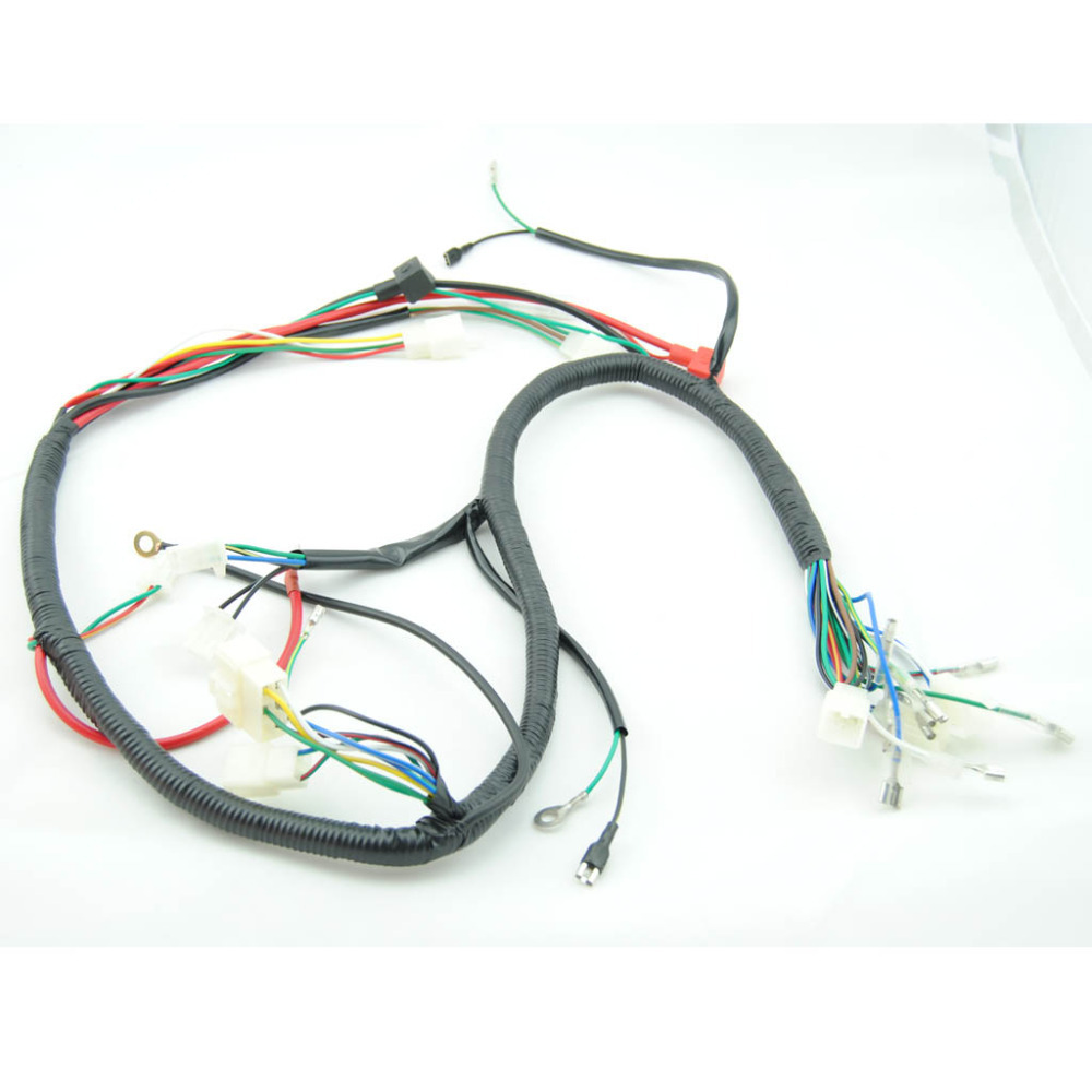 QUAD WIRING HARNESS 200 250cc Chinese Electric start Loncin zongshen ducar Lifan free shipping quad wiring harness 200 250cc chinese electric start loncin lifan wiring harness at gsmportal.co