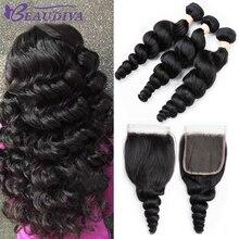 BEAUDIVA Brazilian Human Hair Weave Loose Wave Bundles