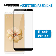 Celeassy Real 2.5D 9H Full Cover Tempered Glass For Xiaomi Mi 6X A2 Screen Protector Xiomi Mi6X MiA2 Protective Film(China)