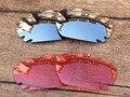 Хром Серебро и Розовый Кристалл 2 Пар Замена Линзы Для Jawbone Вентилируемый Солнцезащитные Очки Кадров 100% UVA и UVB Защиты