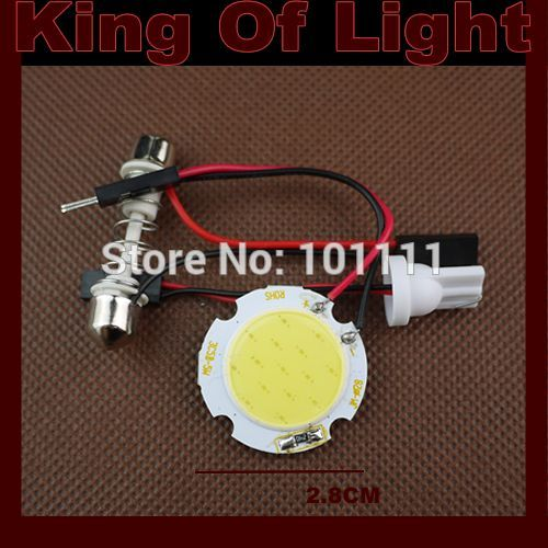 1x high quality Free shipping T10 Festoon 3 Adapters COB 15 chips white Light 12V LED reading Panel Car interior Dome light