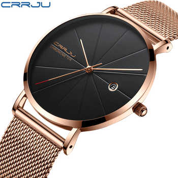 relogio masculino CRRJU Top Luxury Brand Analog sports Wristwatch Display Date Men's Quartz Watches Business Watch Men Watch - DISCOUNT ITEM  44% OFF All Category