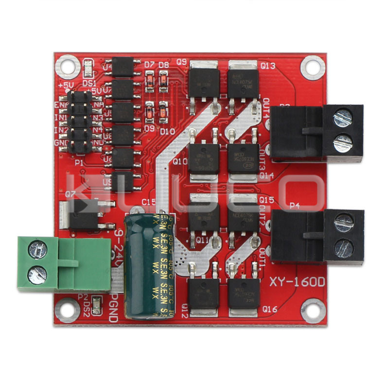 160W 2 Channel DC Motor Driver Positive Negative PWM Speed Regulation Optocoupler Isolation Dual H-bridge Motor Controller mini dual 2 channel 2 5a dc motor driver module beyond l298n pwm speed control