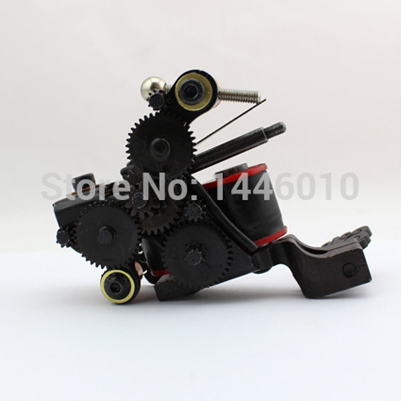 ФОТО Top Selling Black Handmade Tattoo Machine Professional Casting Iron 10 Wraps Coil Tattoo Machine For Shader Liner Free Shipping