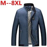 9XL 8XL 6XL 5XL Men Jacket 2016 New Arrival Slim Fashion Korean Style Mandarin Collar Zipper