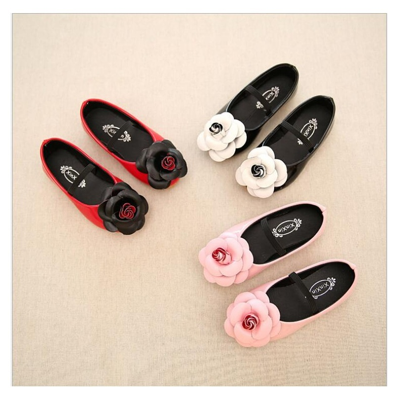 Baby Girls Wedding White dress Shoes For Kids 2018 New Summer Fashion Flower Princess Little Girl Leather Shoes 21