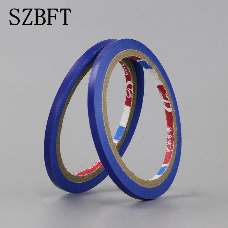 SZBFT Blue PVC Floor Tape Whiteboard Crossed Sub-grid Color Tape Ultra-thin 3mm Custom Wear Tape / Logo Tape / Warning Tape
