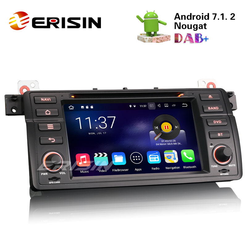 erisin es4746b 7 hd car stereo android 7 1 dab dvr dvd. Black Bedroom Furniture Sets. Home Design Ideas