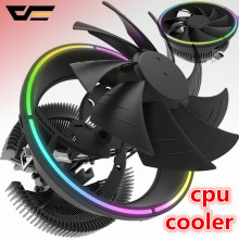 Darkflash aigo cpu cooler led 120mm cpu ventilador de refrigeração cpu cooler lga/115x/775/am3/am4 3pin pc cpu radiador de refrigeração amd dissipador de calor(China)