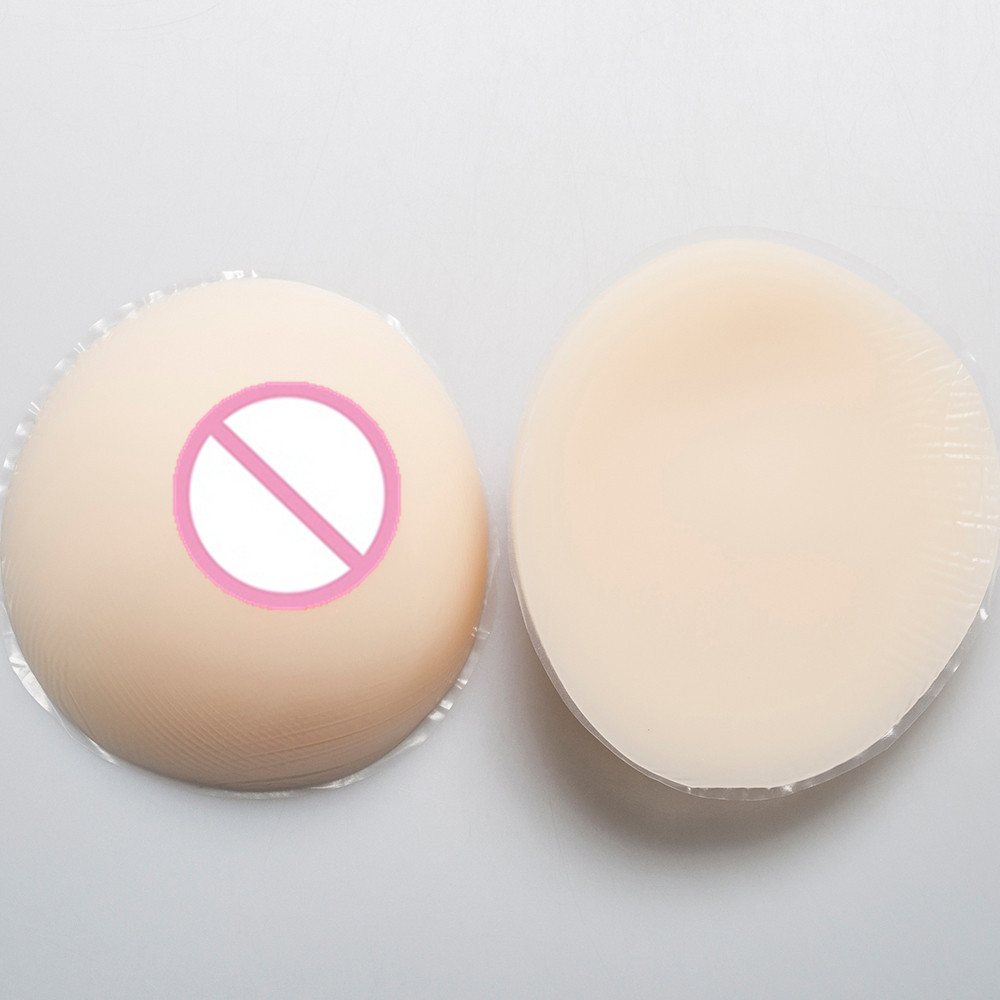 White Color C Cup 800g/pair Simulation Mastectomy Silicone Breast Breastforms Crossdresser Boobs