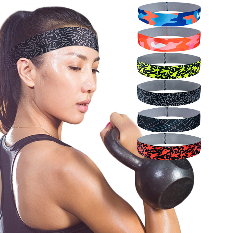 4 Colors Men Women Sports Headbands Exercise Workout Running Crossfit Sweatband