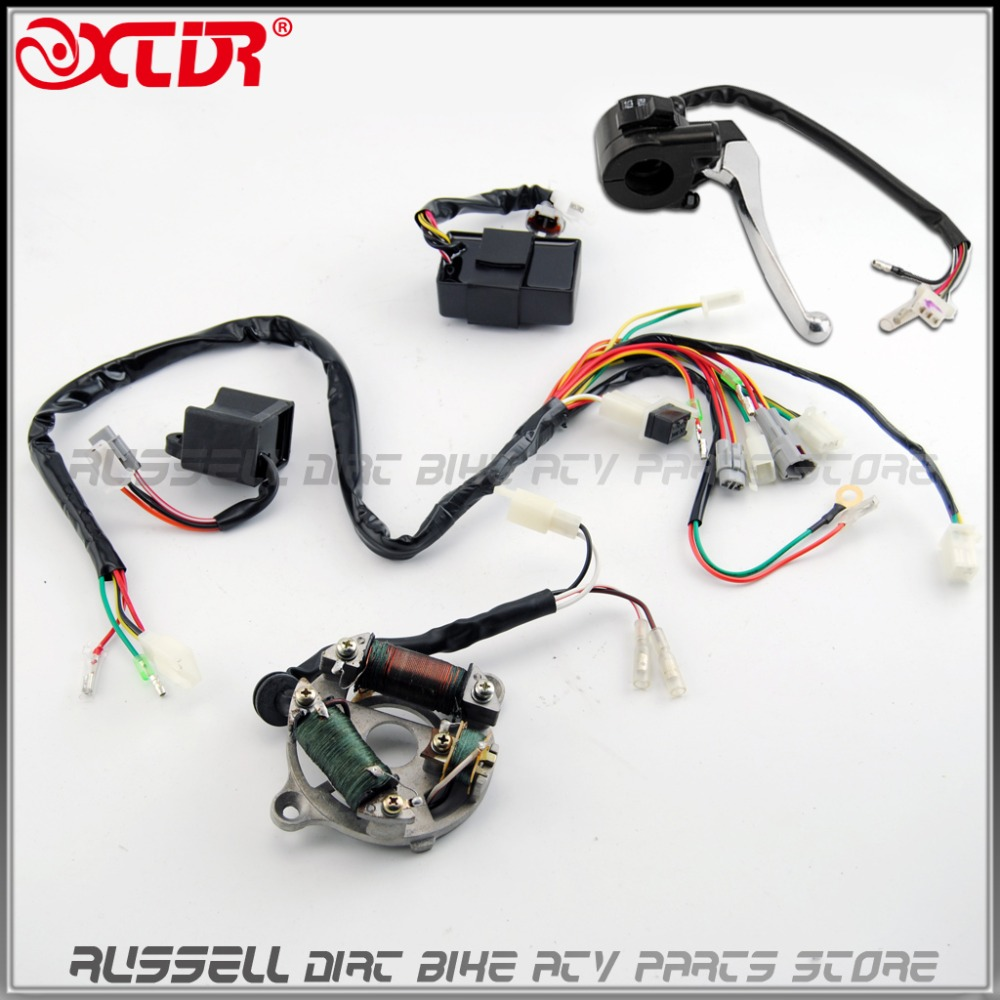 medium resolution of complete wire wiring harness loom ignition switch cdi unit magneto stator assembly for yamaha pw50 replacement aftermarket