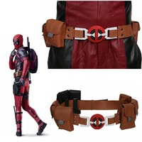Cosplaydiy Deadpool Belt Full Set Buckle Pouches Costume Ryan Reynolds Halloween Cospaly Props Deadpool 2 Belt Accessoires L320