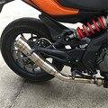 Глушитель мотоцикла из нержавеющей стали глушитель выхлопной трубы мотоцикла для yamaha FZ6 FAZER FZ6R FZ8 MT-07 FZ-07 mt