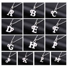 My Shape Alphabet Jewelry Girls Name Necklace gift Friendly Alloy English Letter A B C D E F G H I J K L M N Capital Pendants(China)