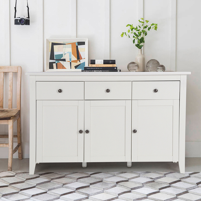 Aingoo Large Space White Minimalist Modern Sideboard/Living Room ...