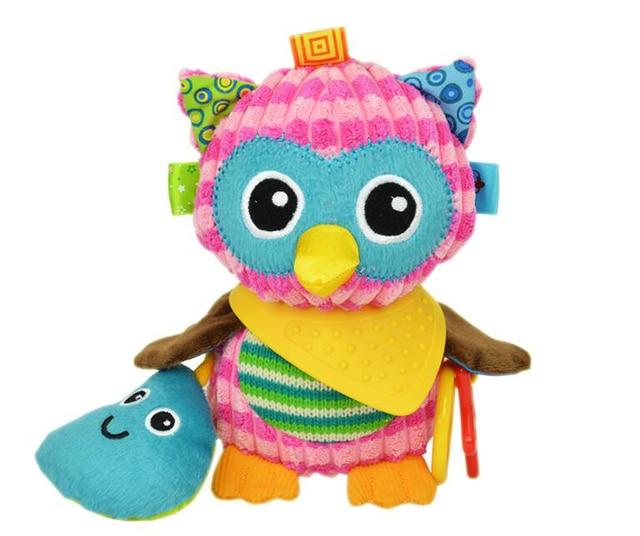 1pcs Sozzy Multifunctional Baby Toys Rattles Mobiles Soft Cotton Infant Pram Stroller Car Bed Rattles Hanging Animal Plush Toys 2