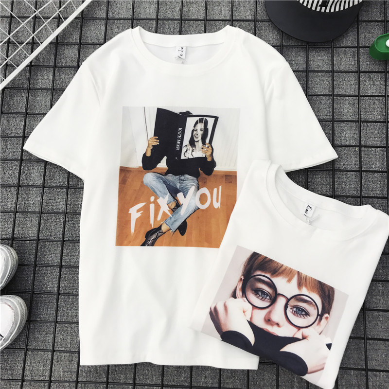 2018 Summer Fashion Casual Character Print Short Sleeve Female T-shirts Women Tshirt girls Sexy T shirts Loose Pullover Tops Tee
