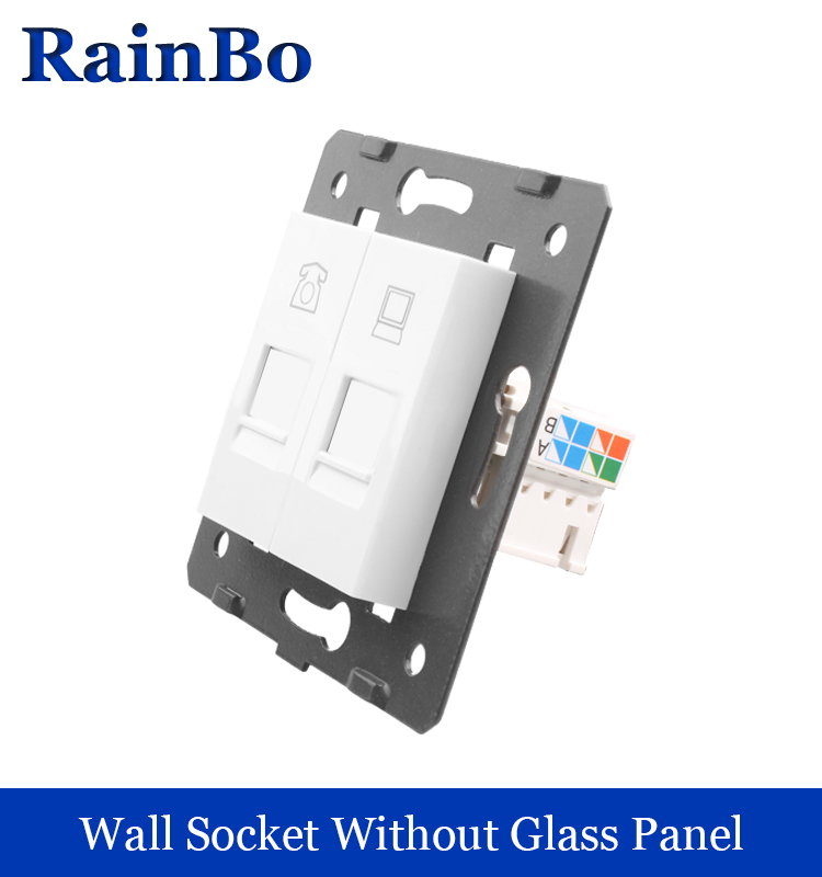 rainbo Free Shipping White Plastic Materials DIY Accessory Function Key For Telephone and Computer  Socket  EU Standard A8TPCO welaik free shipping white plastic materials diy accessory function key for hdmi socket eu standard socket a8hd