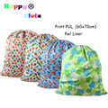 HappyFlute Pail Liner Diapers Wet Bag Print PUL Rubbish Bag waterproof and Reusable Bag 60x70cm 1pcs Pack
