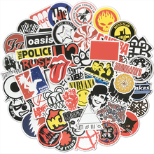 50 Uds. Pegatinas Retro Rock Band música Graffiti JDM impermeable Sticker Pack para Skateboard equipaje Laptop coche motocicleta calcomanía