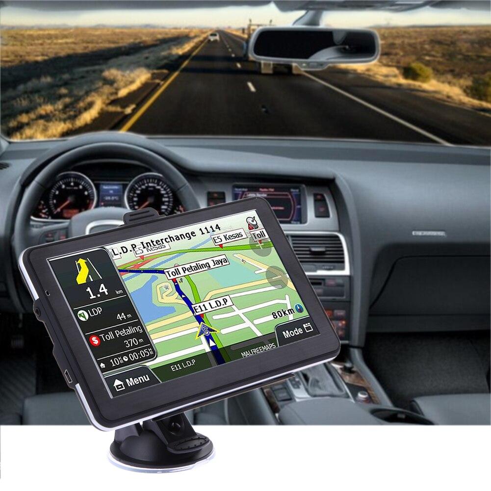 Neue 7 zoll HD Auto LKW GPS Navigator 800 MHZ FM/DDR 8 GB/128 Mt Touchscreen Karten Unterstützung Fm MP3/Mp4