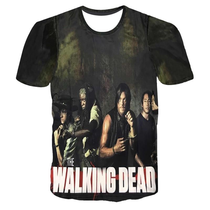 2018 New The Walking Dead T Shirt Men Characters 3D T-Shirt Men Women Brand Clothing Funny Casual Commemorative Tee Shirts Tops
