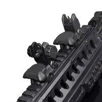 WIPSON Polimer Flip_up Tüfek Manzaraları Kiti Arka ve Ön Sight Picatinny Raylı Tüfekler ve Av Tüfeği için Handguar Katlanır Demir Manzaraları