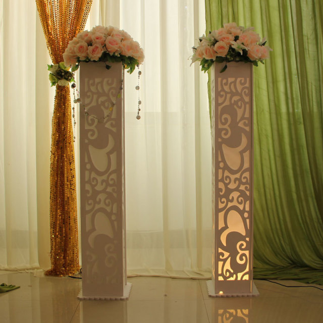 Wedding Decoration Supplies Stage Heart Design Carved Pillar Column  Marriage Stage Decoration 4pcs/lot