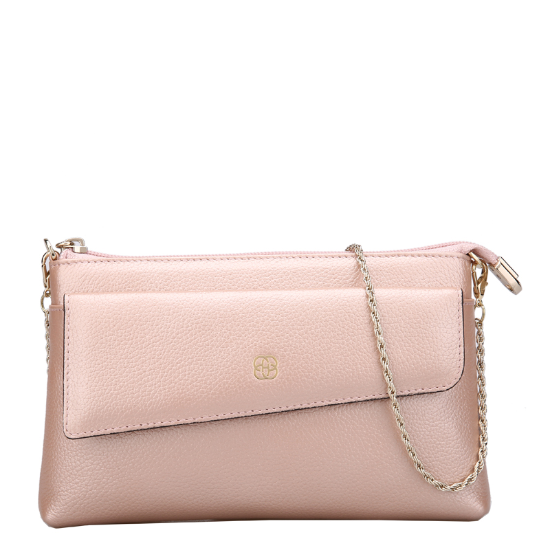 Japanese and Korean style new women leather handbags soft leather long temperament Calfskin clutches women chain bagJapanese and Korean style new women leather handbags soft leather long temperament Calfskin clutches women chain bag