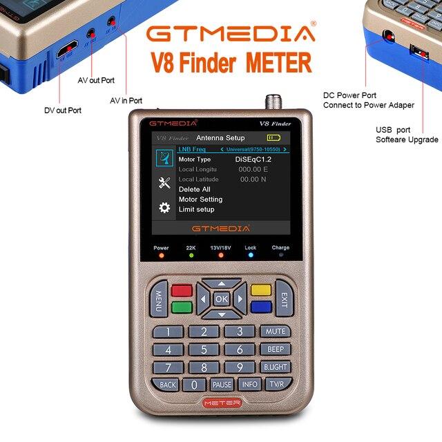GTmedia V8 Finder DVB S2/S2X Satellite Meter Satellite Finder satfinder better than freesat v8 finder WS 6906 6916 6950