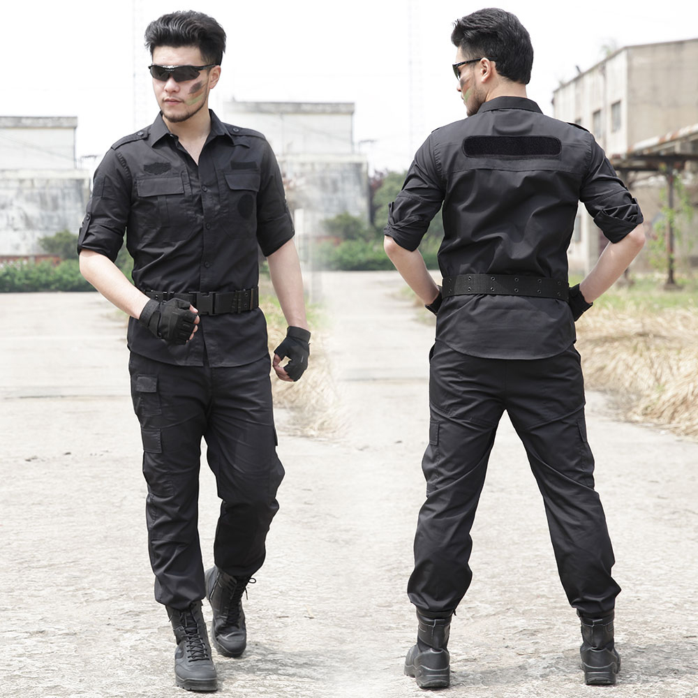 Férfi katonai multicam fekete ruhában harci Ghillie rendőrök - Sportruházat és sportolási kiegészítők