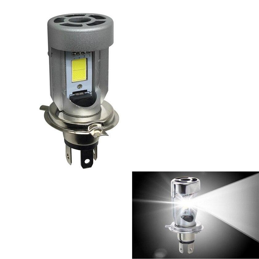 Prix pour Nouveau 1 PC H4 Lumineux Blanc 20 w COB LED Salut/Lo Faisceau Moto Phare Avant Lampe