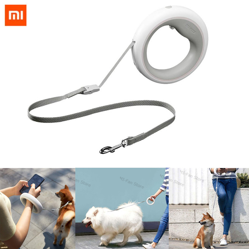 Xiaomi MOESTAR Retractable Dog Leash Ring Led lighting Flexible Pet collar Dog Puppy Traction Rope Belt