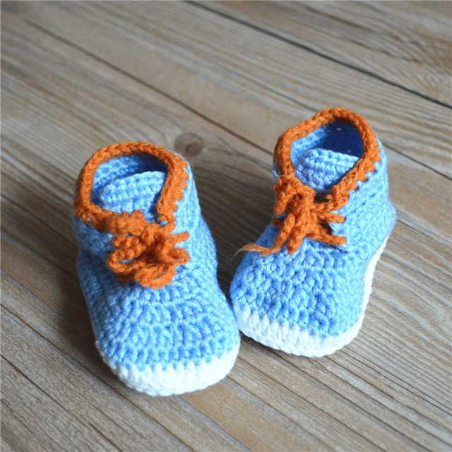 Hohe Qualität Baby Häkeln Turnschuhe Schuhe Schuh Booties