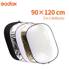 GODOX 90 x 120cm FT05 5in1 Gold Silver white black softbox Portable Collapsible Light Round Photography Reflector for Studio(China)