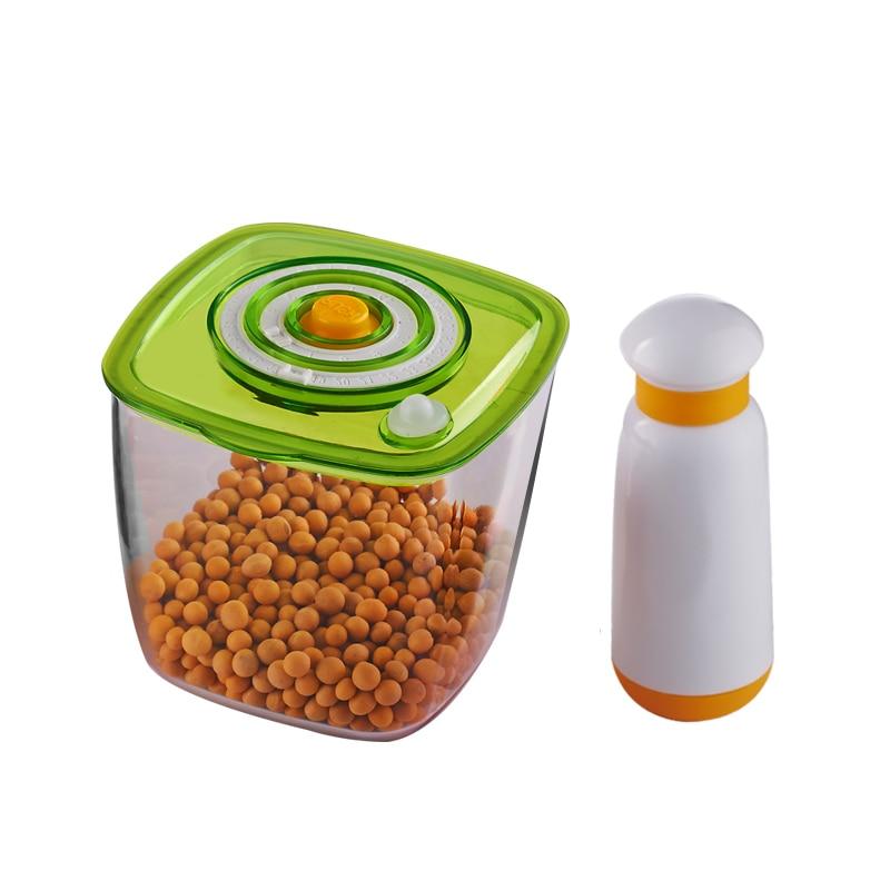 Manual Vacuum Storage Cup With Vacuum Pump Food Sealing Cup Portable Vacuum Food Sealer Packing Machine