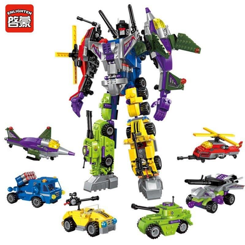 Éclairer 6IN1 506 pièces Destructeur Mars Briques Blocs De Construction Super Héros Robot Jouets Éducatifs pour Enfants