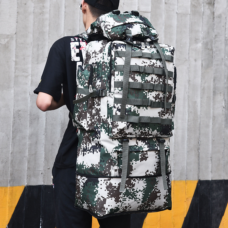 Men's Travel Bags 75L Large Capacity Nylon Camouflage backpack Portable