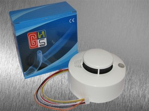 Image 2 - Sgooway 2 pieces Photoelectric Wired Smoke Detector Sensor Wired smoke alarm Security Fire alarm detector